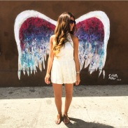 """Angel Wings"" by Colette Miller - St. Regis Wine & Liquor, 8401 West 3rd Street (at S Orlando Avenue), Beverly Grove"